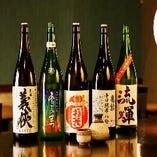 【日本酒】 お料理に合う日本酒を各種ご用意しております。