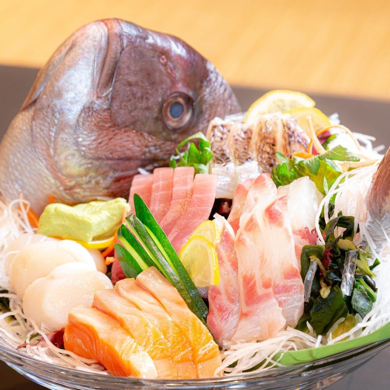 魚介も野菜も毎日仕入れる新鮮さ