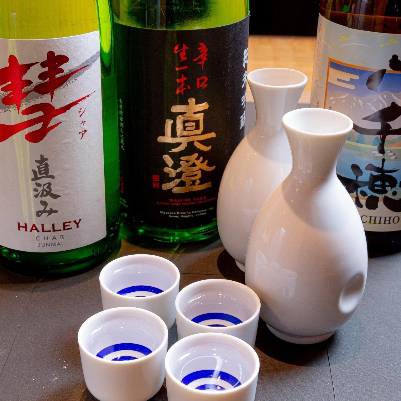 長野の地酒を楽しめる