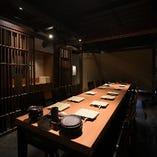 テーブル席半個室(6名様×3部屋)
