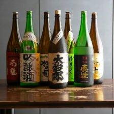 滋賀の地酒も。季節のお酒を取り揃え