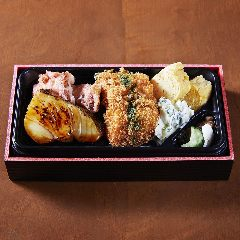 鱈柚庵焼き フライ海苔弁当