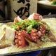 豊後特大椎茸と姫島タコの鶏味噌バター炒め