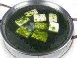 青のり香る湯豆腐