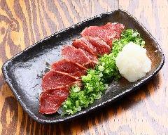 馬肉タタキネギポン酢