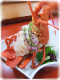 特別料理に伊勢海老のお刺身