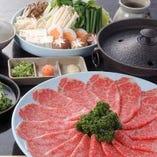 きめ細かい霜降り肉のやわらかな食感と肉本来の甘みに舌鼓
