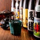 有名焼酎の品揃えは80種類以上!ボトルキープがおすすめです◎
