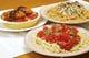 クリームコロッケドリア、きのこパスタ、トマトパスタ
