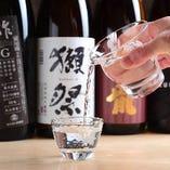 日本酒は八海山、獺祭など全国の銘酒をご用意しております。