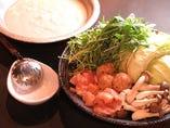 絶品!3種類から選べる鍋♪自慢の白湯スープをご堪能ください!