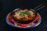 トリッパとギアラのトマト煮込み