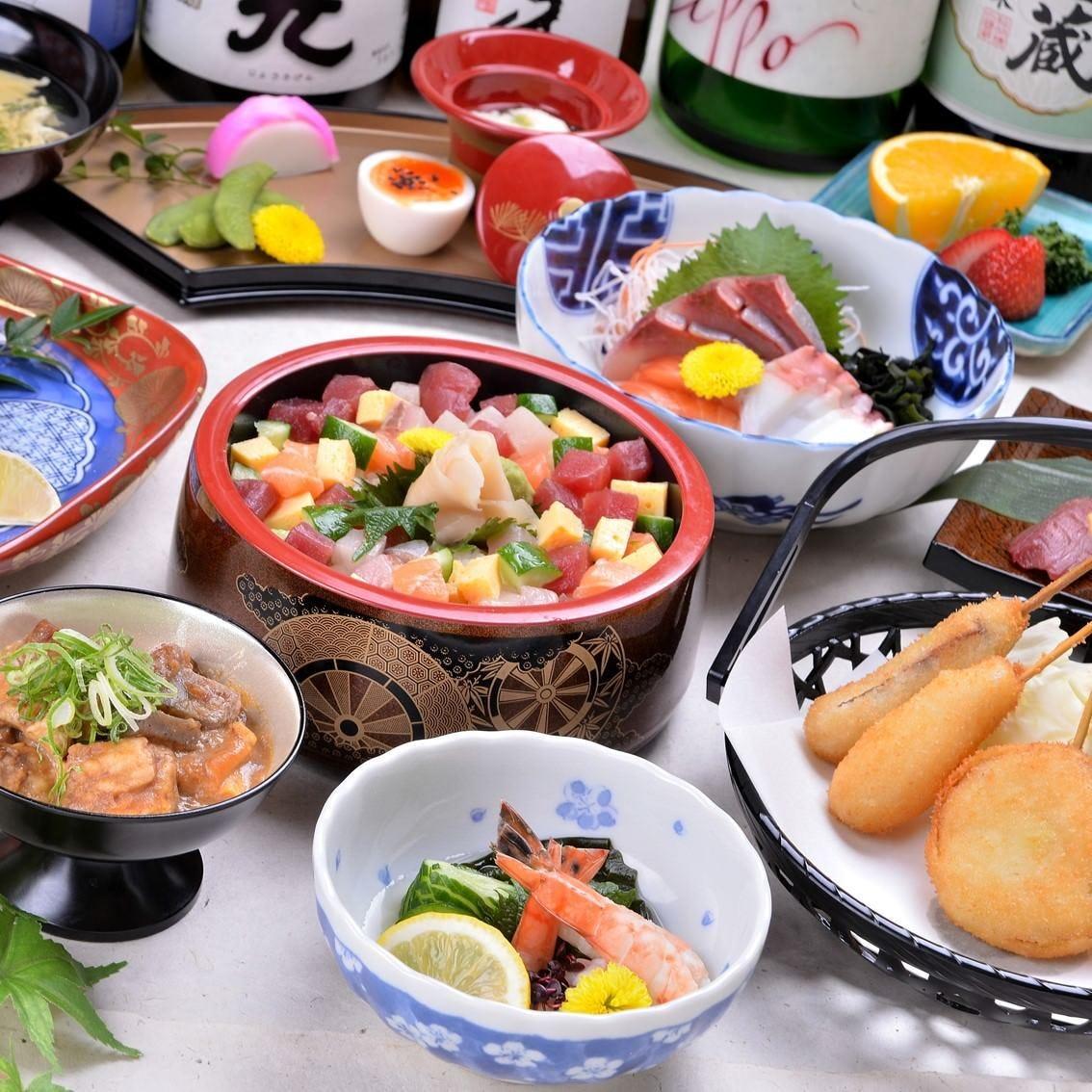 串カツやどて焼きなど大阪ならではのお料理が目白押し!