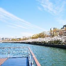 船上デッキから眺める景色は格別!