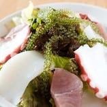 島豆腐と海の幸サラダ