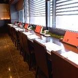 〈京都の町並みを眺める〉 デート使いなどにおすすめのお席です