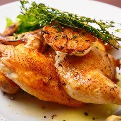 鶏半羽とニンニクのオーブン焼き