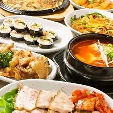 自家製チヂミ・スンドゥブ・蒸し豚・サムゲタンなど韓国料理豊富♪