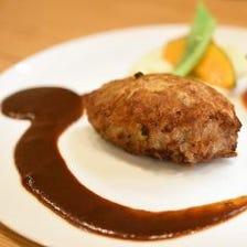 肉汁をぎゅっと閉じ込めた黒毛和牛100%ハンバーグステーキ