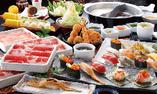 【牛しゃぶしゃぶ・上寿司・串揚げ食べ放題コース】
