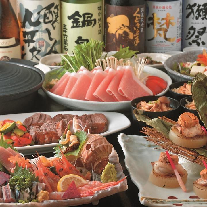 旬な味わいを楽しめる地元家自慢の宴会コース。