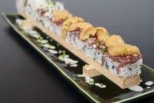 ローストビーフロング押し寿司 うにいくら乗せ