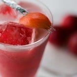 完熟 桃のフレッシュカクテル