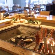 炉端焼きで新鮮魚介を堪能すべし!