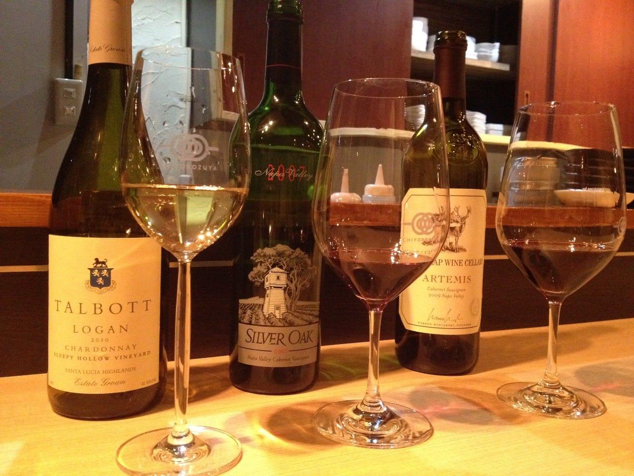 豊富なワインのラインナップ