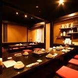 デートから接待、会食まで人数に合わせた個室を多数ご用意!!