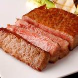 近江牛のステーキは とてもジューシーです