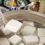 おすすめ【湯豆腐会席】 特製湯つゆでどうぞ!