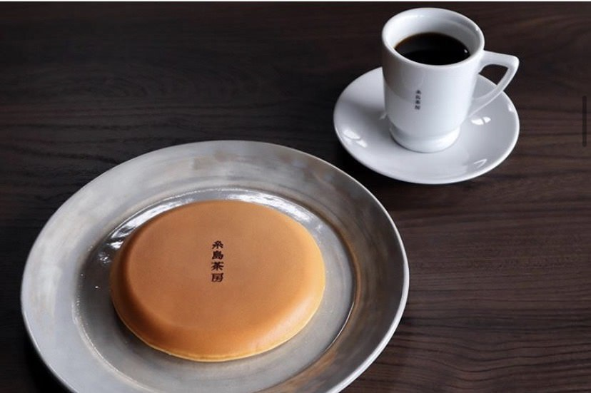 サックリふわふわの糸島茶房特製クラシックパンケーキ♪