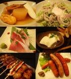 鮮魚に炭火串焼き、基本の和食に創作和食。つまみからご飯まで。
