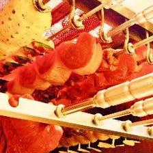 【ランチ食べ放題】15種類シュラスコ食べ放題+サイドメニュー3品 3080円