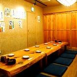 ◎【中規模宴会におすすめ】赤松テーブル部屋 10名様利用イメージ 3個別にお部屋を区切れます。