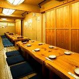 ◎赤松テーブル部屋 7名~16名様×3室。最大48名様まで対応可能!