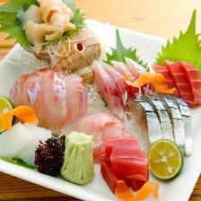 [刺身]毎日築地から仕入れる新鮮魚介