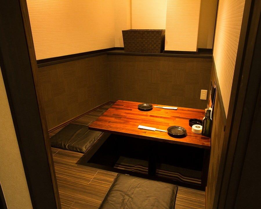 接待にぴったりの個室をご用意しております。