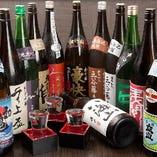 日本酒の品揃えも豊富にご用意しております。