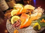 珍しいお刺身の燻製は、オラホビールとも相性抜群です◎
