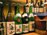 地酒・焼酎・ワインなど いろいろなお酒を取り揃えています。