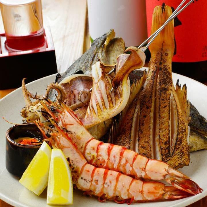 紀州の地魚!ひものなど。お酒にぴったりの魚介類が豊富です☆