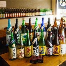 各蔵地酒約20種類ご用意しています!