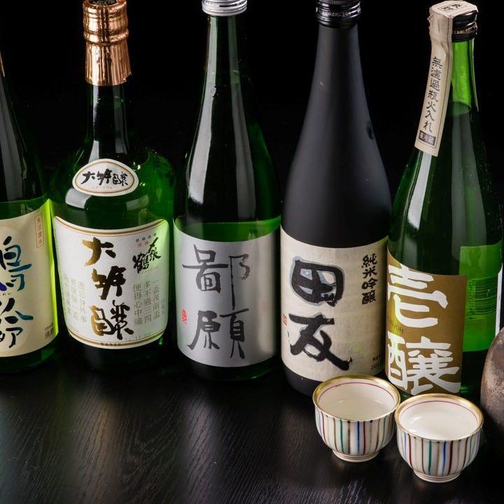 厳選日本酒がずらり・・・