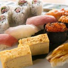 寿司職人が握る寿司が1貫55円〜!