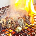 炭火で焼く九州の山の幸・海の幸は香ばしくジューシー♪