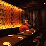 店内は和モダンの落ちついた空間。オトナの飲み会に◎