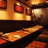 【12名様個室】ゆったりくつろげる広々個室。同窓会や宴会に。