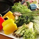旬の野菜盛り合せ(陶板焼き)